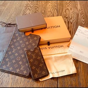 Louis Vuitton IPad case and larger IPhone case